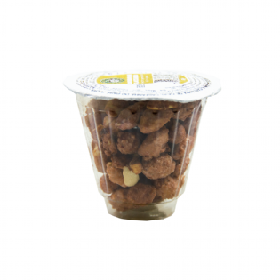 Display-Nutty Express-50g-Sabor-Amendoim-Glaceado-Display com 12 unidades
