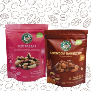 MIX PASSAS-150G + AMÊNDOA BARBECUE-150G