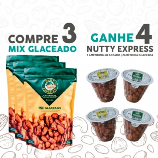 Combo 3-Mix-Glaceado-400g+Ganhe-4-Nutty-Express-50g